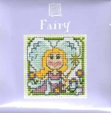 Textile Heritage Cross Stitch Kit - Card - Fairy - Made in Scotland