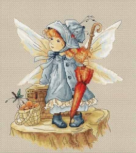 Luca S Cross Stitch Kit - Picnic Fairy B1110