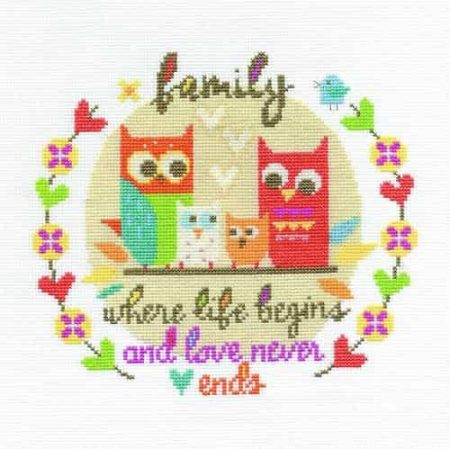 DMC Cross Stitch Kit - Family BK1531
