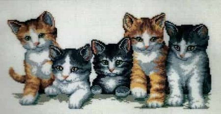 Vervaco Cross Stitch Kit - Cat Family