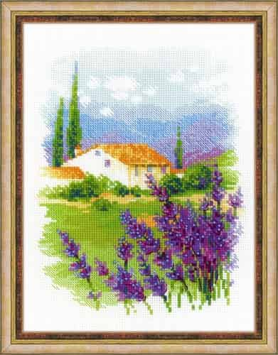 Riolis Cross Stitch Kit - Provence Farm, Lavender,1691