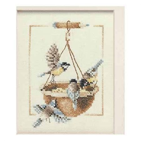 Lanarte Cross Stitch Kit - Feeding Dish with Birds 34540
