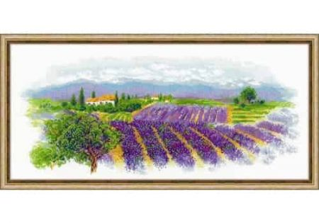 Riolis Cross Stitch Kit - Blooming Provence, Lavender 1690