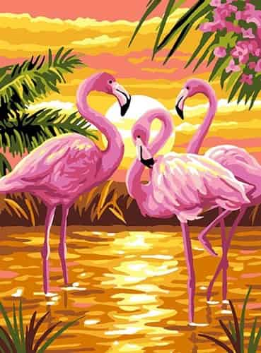 Royal Paris Preprinted Canvas Tapestry - Pink Flamingos