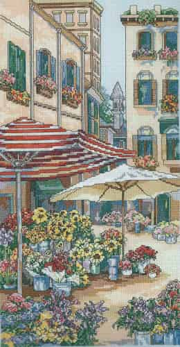 Janlynn Cross Stitch Kit - Flower Market
