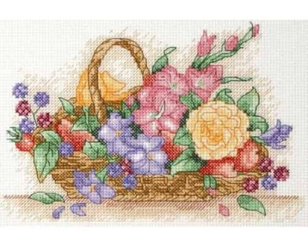 Anchor Cross Stitch Kit - Floral Basket AK117