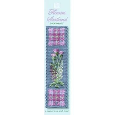 Textile Heritage Cross Stitch Kit - Bookmark - Flowers of Scotland - Made in Scotland