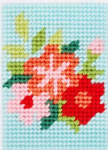 DMC Printed Canvas Tapestry Kit - Flowers - Suitable for Beginners