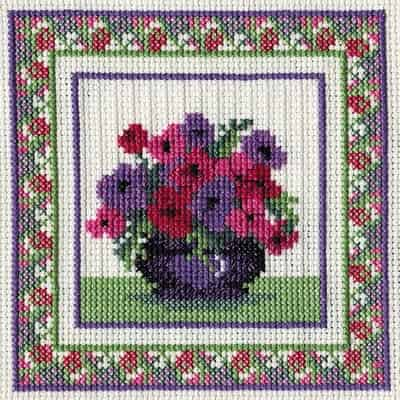 Derwentwater Designs Cross Stitch Kit - Anemones, Flowers