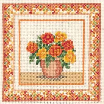 Derwentwater Designs Cross Stitch Kit - Begonias, Flowers