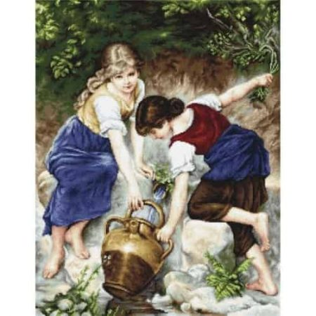 Luca S Needlepoint Tapestry Kit - At The Fountain, Girls Collecting Water G564