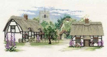 Derwentwater Designs Cross Stitch Kit - The Lanes Series - Foxglove Lane