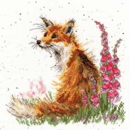 Bothy Threads Cross Stitch Kit - Amongst the Foxgloves XHD8
