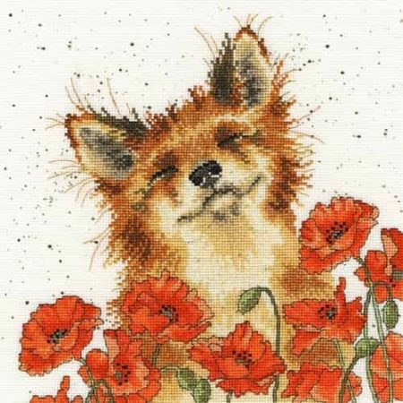 Bothy Threads Cross Stitch Kit - Poppy Field, Fox