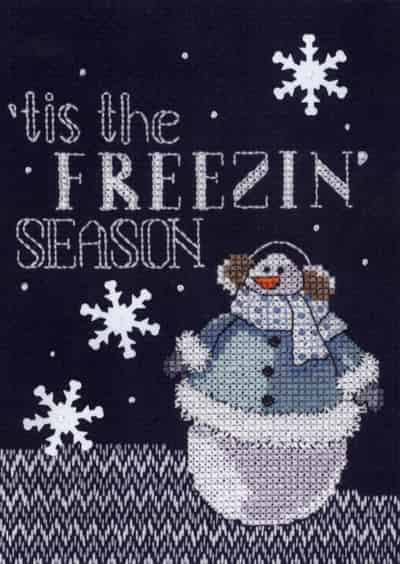 Janlynn Cross Stitch Kit - Christmas Designs - Snowman - Freezin' Season