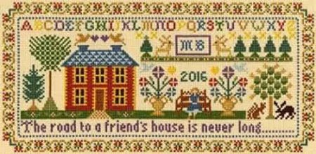 Bothy Threads Cross Stitch Kit - Moira Blackburn Friend's House Sampler XS1