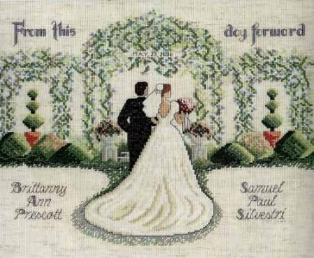 Janlynn Cross Stitch Kit - From this Day Forward, Wedding, Marriage