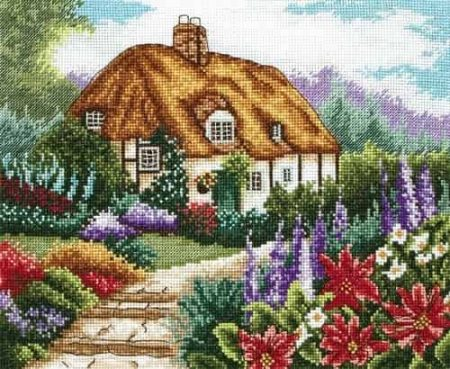 Anchor Cross Stitch Kit - Cottage Garden in Bloom PCE593