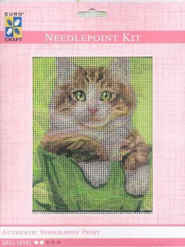 Grafitec Needlepoint Tapestry Kit - Ginger and White Cat