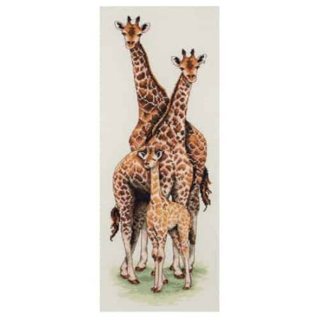 Anchor Cross Stitch Kit - Giraffe Family PCE740