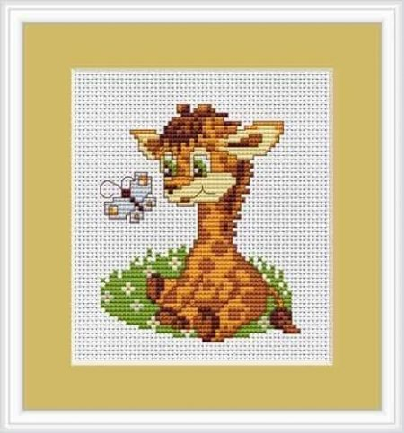 Luca S Cross Stitch Kit - Giraffe