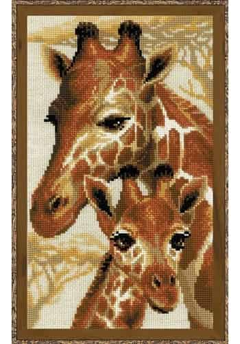 Riolis Cross Stitch Kit - Giraffe, Giraffes