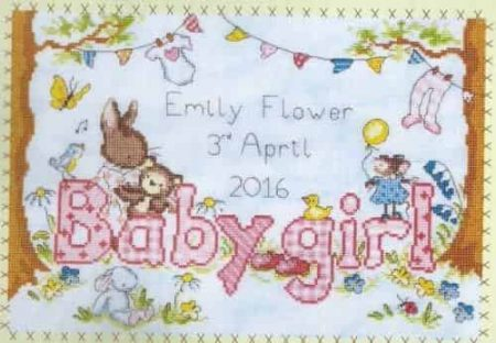 Bothy Threads Cross Stitch Kit - Bunny Love Girl XKG2