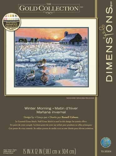 Dimensions Gold Cross Stitch Kit - Winter Morning