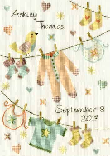 Bothy Threads Cross Stitch Kit - Baby Grow XNB4