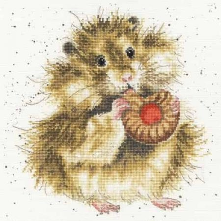 Bothy Threads Cross Stitch Kit - The Diet Starts Tomorrow, Hamster XHD37