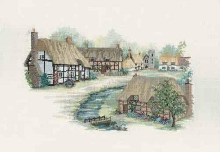 Derwentwater Designs Cross Stitch Kit - Hampshire Village