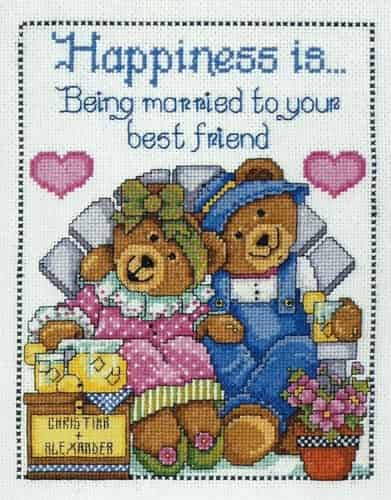 Design Works Cross Stitch Kit - Happiness Bears