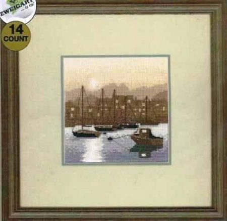 Heritage Crafts Cross Stitch Kit - Silhouettes, Harbour Lights