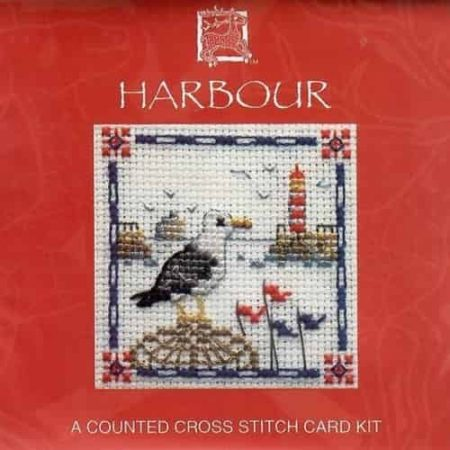 Textile Heritage Cross Stitch Kit - Card - Harbour - Made in Scotland
