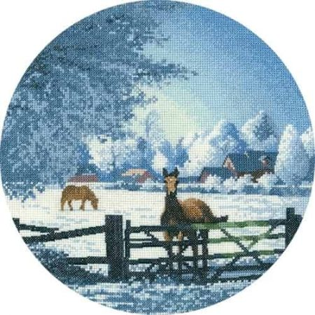 Heritage Crafts Cross Stitch Kit - John Clayton - Circles - Hard Frost
