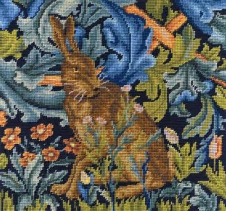DMC Tapestry Kit - Hare by William Morris - V & A Museum Collection C120K/77