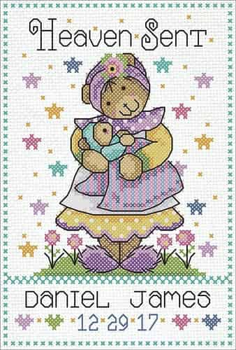 Design Works Cross Stitch Kit - Heaven Sent, Baby, Birth