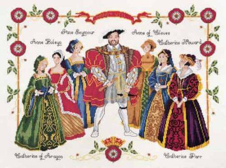 DMC Cross Stitch Kit - Henry VIII & Six Wives K3403