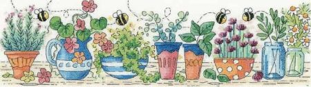Heritage Crafts Cross Stitch Kit - Herb Garden