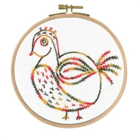 DMC Little Birds Printed Embroidery Kit - Free Spirit BL1153/74 - Includes hoop