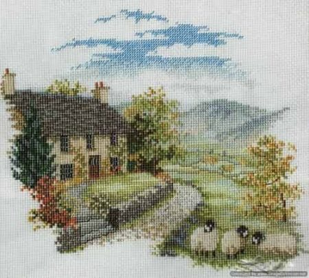 Derwentwater Designs Cross Stitch Kit - High Hill Farm