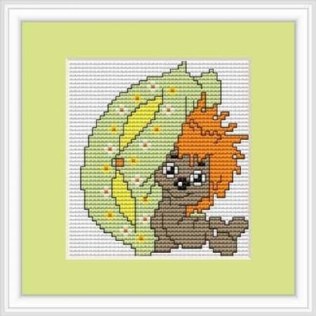 Luca S Cross Stitch Kit - Hedgehog