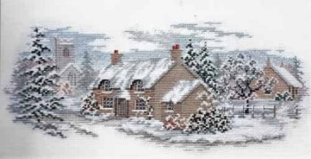Derwentwater Designs Cross Stitch Kit - The Lanes Series - Holly Lane