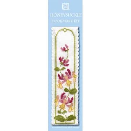 Textile Heritage Cross Stitch Kit - Bookmark - Honeysuckle - Made in Scotland