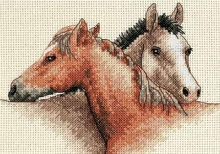 Dimensions Cross Stitch Kit - Horse Pals