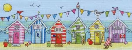 Bothy Threads Cross Stitch Kit - Beach Hut Fun XJR19