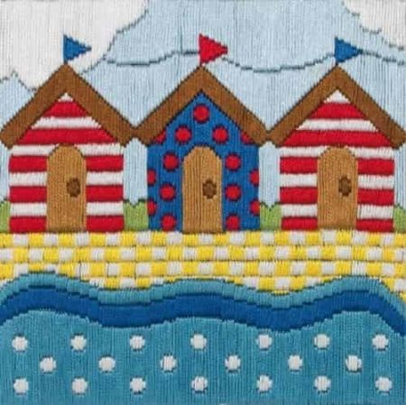 Anchor Long Stitch Starters Kit - Beach Huts AL213