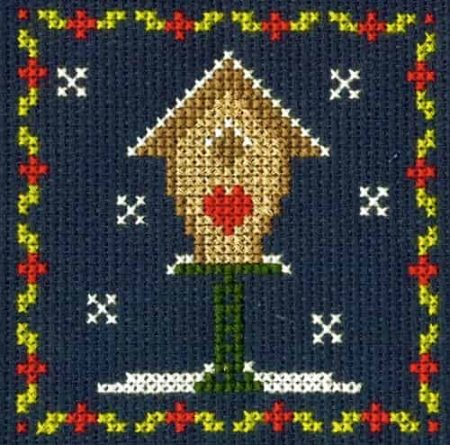 DMC Mini Cross Stitch Kit - Festive Christmas - Birdhouse
