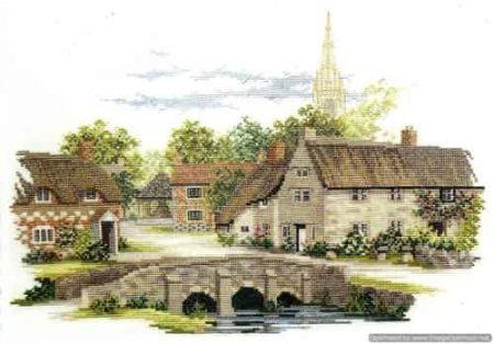 Derwentwater Designs Cross Stitch Kit - Wiltshire English Village
