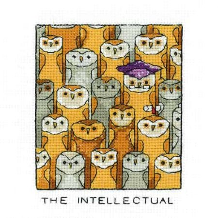 Heritage Crafts Cross Stitch Kit - The Intellectual, Owl